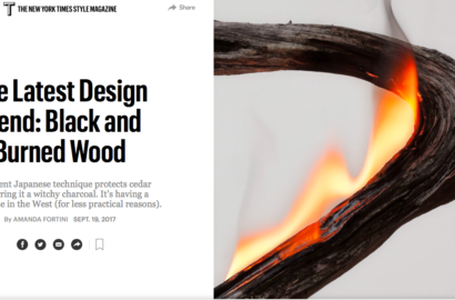 The Latest Design Trend: Black and Burned Wood – The New York Times