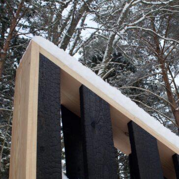 Mockup plank Shou sugi ban