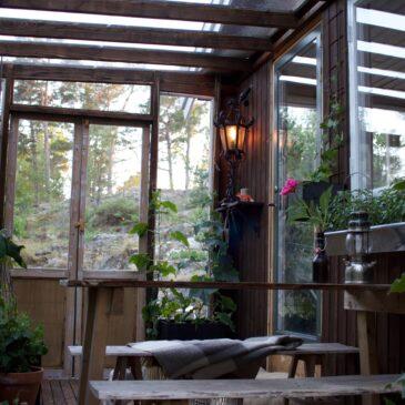 Orangeri Shou Sugi Ban Gran, bränd och mjukt borstad